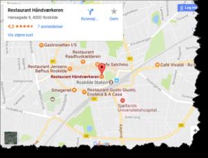 Julefrokost tæt på Roskilde Station
